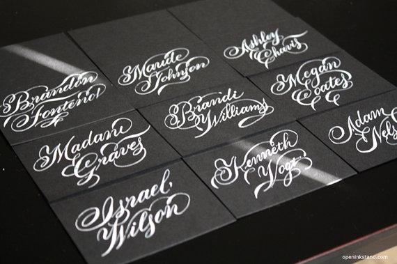 calligraphy - escort black and white