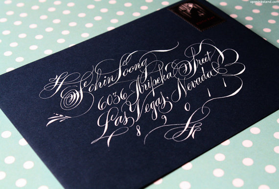 calligraphy - flourished