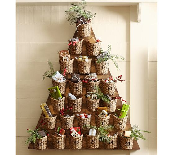 tree basket advent calendar