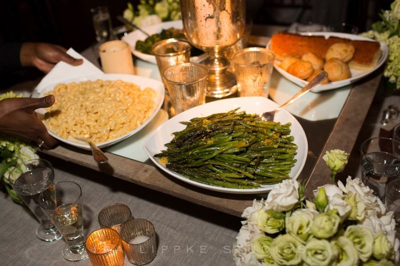 Hamptons Wedding by In any Event.  Family Style comfort food by Creative Edge Parties.