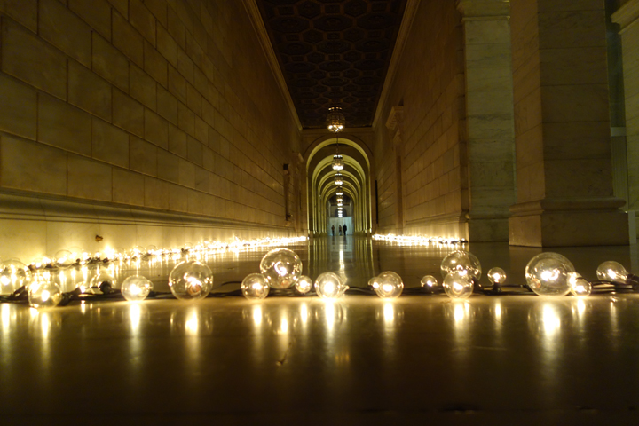 Hallway - Edison Bulbs