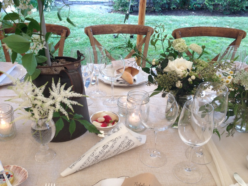 centerpiece with petal cone